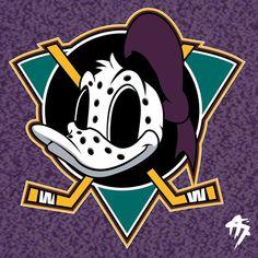 Hockey Logos, Anaheim Ducks, Nhl, Donald Duck, Cartoons, Disney, Funny, Sports, Design