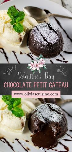 This easy yet delicious recipe for Chocolate Petit Gateau will make your Valentine's Day cooking a breeze! This easy chocolate lava cake recipe is ready in just 10 minutes and loaded with chocolate and cognac to end your romantic meal for two just perfectly! Your loved ones will love this decadent treat! #lavacake #petitgateau #dessert Party Desserts, Holiday Desserts, No Bake Desserts, Dessert Recipes, Lava Cake Recipes, Lava Cakes, Easy Chocolate Lava Cake, Chocolate Recipes, Healthy Desserts