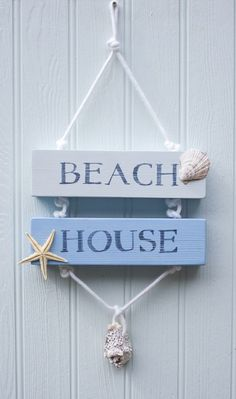 Beach House Signs, Beach Signs, Beach House Decor, Home Signs, Home Decor, Seashell Crafts, Beach Crafts, Fish Crafts, Coastal Style