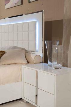 Orren Ellis Demaria 6 Drawer Dresser with 2 Nightstands Color: White White Bedroom Design, Blue Bedroom Decor, White Bedroom Decor, Bedroom Furniture Design, Bedroom Black, White Furniture, Master Bedroom, Bedroom Ideas Pinterest, My New Room