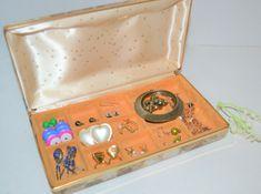 Travel Jewelry Box, Travel Box, Earring Box, Enamels, Pierced Earrings, Vintage Earrings, Formal Wear, Baroque, Metals