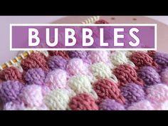 BUBBLE Knit Stitch Pattern - YouTube