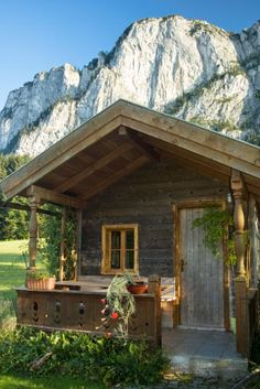 Tiny House Landscape Picture in Austrian Alps