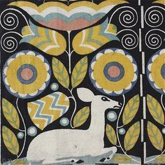 Ttextile fragment by Carol Otto Czeschka.