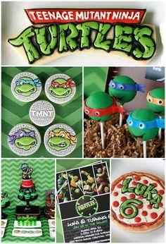 Amazing birthday cake, cake pops, cookies, and decorations Turtle Birthday Parties, Ninja Turtle Birthday, Ninja Turtle Party, Diy Birthday, Birthday Party Themes, Birthday Ideas, Birthday Cake, 10th Birthday, Ninja Turtles