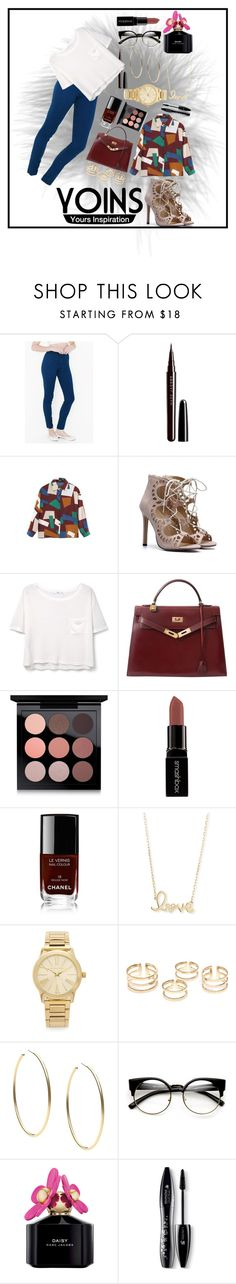"""Contest"" by ayannap ❤ liked on Polyvore featuring Marc Jacobs, MANGO, Hermès, MAC Cosmetics, Smashbox, Chanel, Sydney Evan, Michael Kors, Lancôme and yoins"
