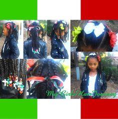 Cute  hairdo  ♥   Representing Hispanic Herritage