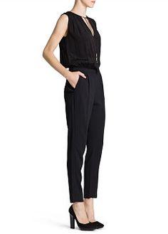 MANGO - CLOTHING - Jumpsuits - Tassel long jumpsuit