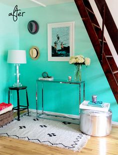 How to Implement the Ombré Home Painting Technique soft fade of color in room. Great idea!