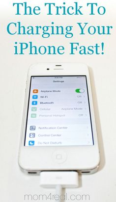 How To Charge Your iPhone Faster ~ Tip of the Day