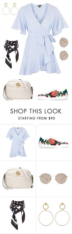 """Untitled #1909"" by kellawear on Polyvore featuring Topshop, Gucci and Maria Francesca Pepe"