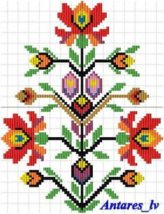 Cross Stitch Borders, Cross Stitch Rose, Cross Stitch Flowers, Cross Stitching, Cross Stitch Patterns, Diy Embroidery Patterns, Creative Embroidery, Folk Embroidery, Cross Stitch Embroidery
