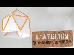 Tuto DIY : un abat-jour en papier cousu  | Studio Cyanotype - YouTube