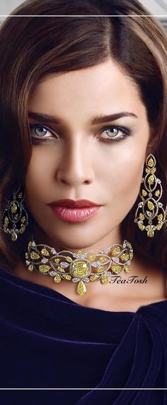 ❇Téa Tosh❇ Natural fancy vivid yellow and white diamond suite to brighten your day… only from the House of Moussaieff