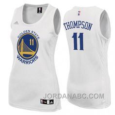 http://www.jordanabc.com/womens-klay-thompson-golden-state-warriors-11-home-white-jersey.html WOMEN'S KLAY THOMPSON GOLDEN STATE WARRIORS #11 HOME WHITE JERSEY Only $51.00 , Free Shipping!
