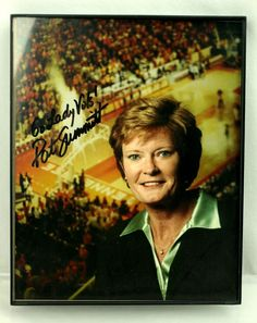 Tennessee Lady Vols PAT SUMMITT Baksetball 8x10 Autographed Signed Framed Print #weboys10