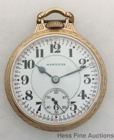c205cd133 Hamilton Montgomery Dial 992 Railroad 16s 21J Open Face Antique Pocket Watch  #Hamilton Pocket Watch