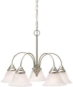 Ceiling Fans Decoration   2076NI Telford 5LT Chandelier Brushed Nickel Finish with Alabaster Swirl Glass >>> Read more reviews of the product by visiting the link on the image. Note:It is Affiliate Link to Amazon.