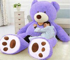 """Giant Huge Jumbo 93"""" purple Teddy Bear Gigantic Gift Stuffed ..."""
