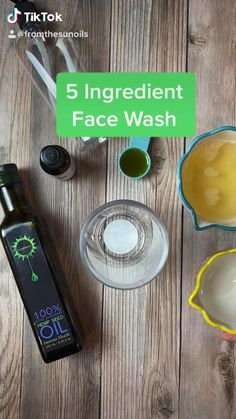 5 Ingredient Face Wash Try this easy face wash using FromTheSun's Hemp Seed Oil! Oil Face Wash, Natural Face Wash, Natural Beard Oil, Natural Face Cleanser, Natural Skin, Homemade Beard Oil, Diy Beard Oil, Homemade Face Wash, Essential Oils For Face