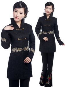black Chinese Tradition Women'scotton evening coat Jacket size 6-16 in Clothes, Shoes & Accessories | eBay