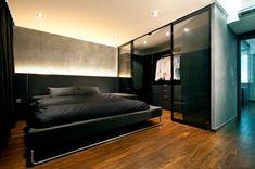 Minimalist mens bedroom