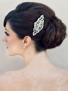 Hair Comes the Bride - Classic Vintage Bridal Hair Comb ~ Melissa, $52.00 (http://www.haircomesthebride.com/classic-vintage-bridal-hair-comb-melissa/)