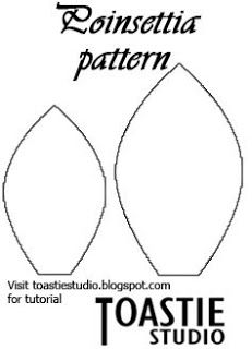 You will need: Red felt Beads, sequins & buttons to decorate Sewing needle & thread Scissors Pattern (above) Print off and cut out the pattern above. Using the petal pattern cut 7 petals of each size from your red felt. Sew along the bottom of your 7 large petals and tie them into a circle …
