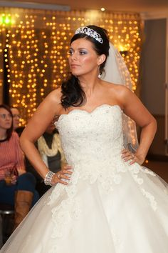 'Teresa' Corset bodice and ballgown skirt embellished with corded lace and beading from www.bridalgallerycoventry.co.uk