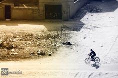 Ciclista en Nuakchot