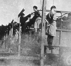 Female war criminals ww2 | The prisoners were noosed and then pushed from the ramp of the trucks