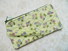 Quilted Wallet Coin Purse Pouch Wristlet   READY by CyndeesGarden, $10.50