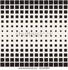 Vector seamless pattern. Modern stylish texture. Repeating geometric tiles. Monochrome halftone grid. Simple shapes lattice