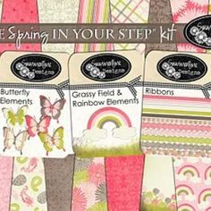 A Little Spring In Your Step {Free Digital Scrapbooking Downloads}