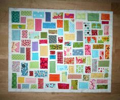 Scrap Buster Project ~ Tiny Ticker Tape Quilt Tutorial from Amanda Jean « Sew,Mama,Sew! Blog