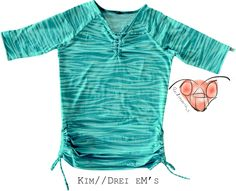 """Raglan-Shirt """"Kim"""" von Drei eM's in S aus Jersey. Super als Umstandshirt! Link zum Ebook auf der Pinnwand """"Patterns I used/benutzte Schnittmuster"""""""