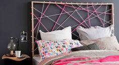 Schlafzimmer Ideen Für Kreatives Bett Kopfteil Selber Machen Mit Seilen