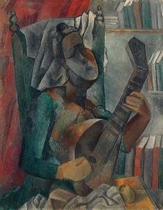 Femme jouant de la mandoline, par Pablo Picasso