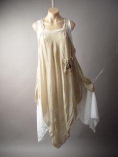 Linen-Blend-Lagenlook-Italy-Victorian-Shabby-Chic-Pinafore-Peasant-202-mv-Dress