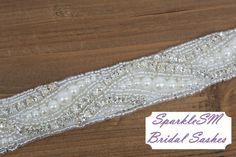 Rhinestone Bridal Sash Rhinestone and Crystal Wedding by SparkleSM, $150.00