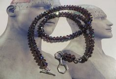 Nicotine molecule silver and Purple Chinese by madebymirjam, €45.00