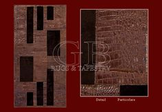 In this particular series of rugs the edge is in smooth leather printed in crocodile style and the central part it is in castor fur. You can...