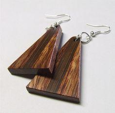 love wood earrings