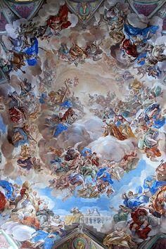 Monasterio de San Lorenzo de El Escorial ceiling.Madrid.Spain