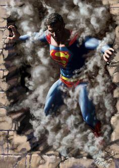 #Superman #Fan #Art. (Superman) By:SBraithwaite. (THE * 5 * STÅR * ÅWARD * OF: * AW YEAH, IT'S MAJOR ÅWESOMENESS!!!™)[THANK U 4 PINNING!!!<·><]<©>ÅÅÅ+(OB4E)