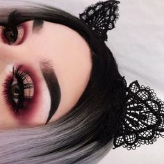 Full length eyelashes.