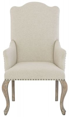 Elevate your dining space with the Bernhardt Campania Upholstered Nailhead Trim Dining Arm Chair . This chair doesn't pick favorites; Solid Wood Dining Chairs, Dining Arm Chair, Dining Room Chairs, Side Chairs, Desk Chairs, Kitchen Chairs, Office Chairs, Bar Chairs, Swivel Chair