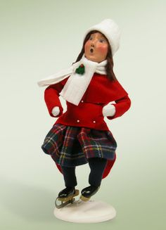 Girl Skating Caroler Byers Choice Figurine