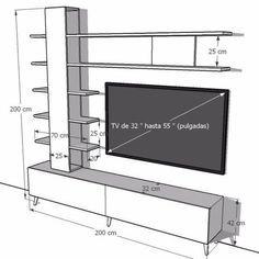 Centro De Entretenimiento Lacado Mueble De Tv Ref: Aleyna - Гостиная Tv Unit Interior Design, Tv Unit Furniture Design, Tv Furniture, Woodworking Furniture, Entertainment Furniture, Tv Unit Decor, Tv Wall Decor, Tv Cabinet Design, Tv Wall Design