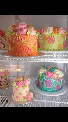 Fun little buttercream cakes by the white flower cake shoppe